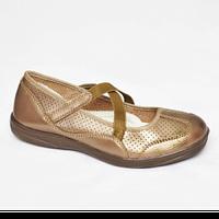 Туфли женские бронзовые