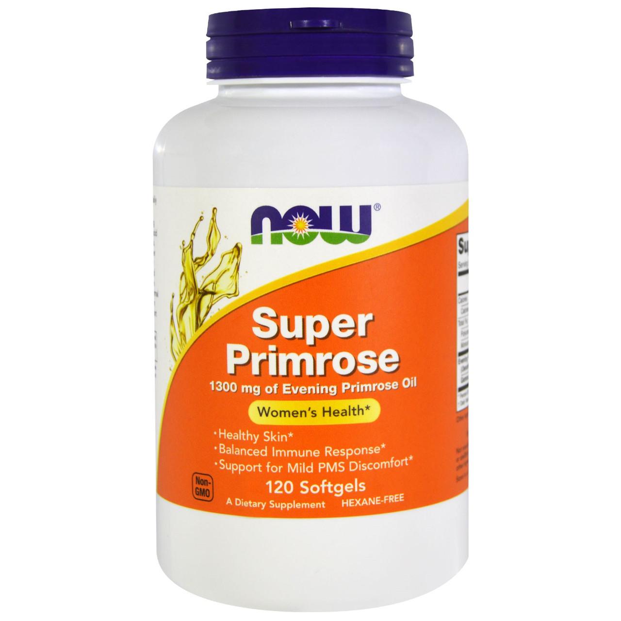 Масло примулы вечерней Now Foods, Super Primrose, 120 капсул. Сделано в США.