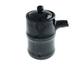 Соусник для соєвого соусу чорний 110 мл, Fudo