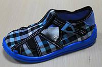 Тапочки на мальчика синяя клетка тм Zetpol р.18,19