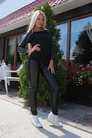 Черный Костюм Roxy с кожаными вставками в наличии