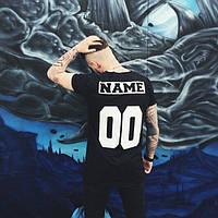 Мужская именная футболка (черная) Любой принт