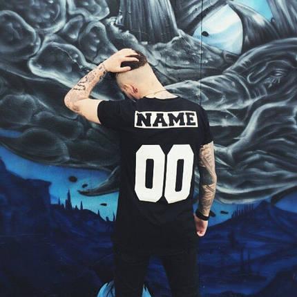 Мужская именная футболка (черная) Любой принт, фото 2