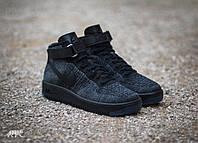 Кроссовки Nike Air Force 1 Ultra Flyknit Mid Dark Grey/ Black