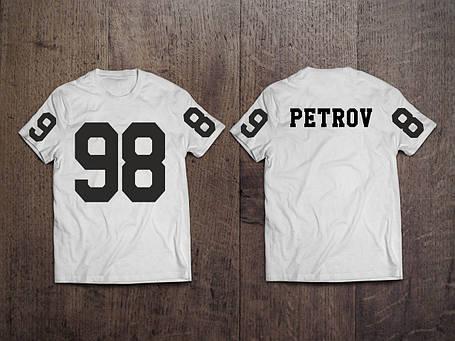 Мужская именная футболка Ваш любимый номер и Фамилия/Имя, фото 2