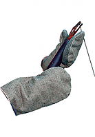 Рукавицы рабочие двунитка с двойным брезентовым наладонником, фото 1
