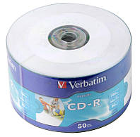 Диски 50шт. Verbatim CD-R 700Mb Printable 43794