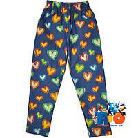"""Детские брюки """"Сердечки"""" , для девочек (рост 92-98-104-110-116 см)"""