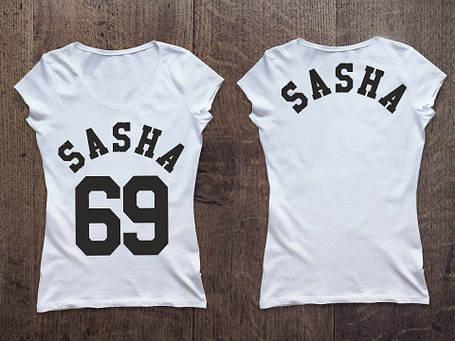 Женская именная футболка. Ваш дизайн, фото 2