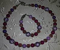 Б/У Комплект в сиренево-фиолетовом цвете
