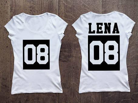Женская именная футболка. Нанесем любой принт под заказ, фото 2