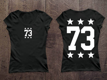 Женская именная футболка. ваш любимый номер!, фото 2