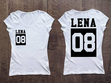 Женская именная футболка (номер в квадрате) Фамилия/Имя, фото 2