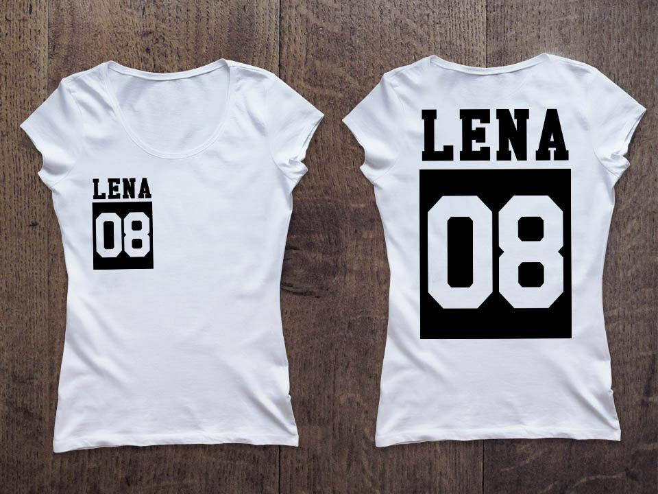 Женская именная футболка (номер в квадрате) Фамилия/Имя