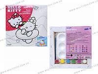 Холст с контуром 20х20 см Hello Kitty /1/24/96/(HK14-216K)