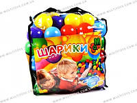 Шарики большие 80мм мягкие 100шт в сумке /3/()