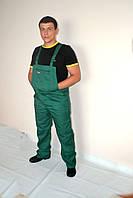 Штаны на бретельках для ремонтно-строительных работ (зеленые)