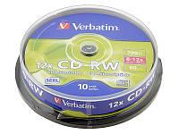 Диски 10шт.Verbatim CD-RW 700Mb 43480