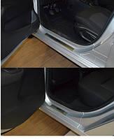 Накладки на пороги Peugeot  301 2013- 4шт. premium
