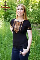 Женская вышитая футболка Традиционная золота