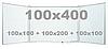 Доска магнитно-маркерная настенная с 5 поверхностями в алюминиевой раме 100х400см, износостойкая