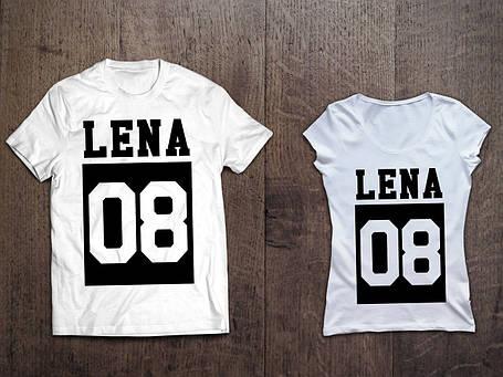 Молодежные парные именные футболки., фото 2