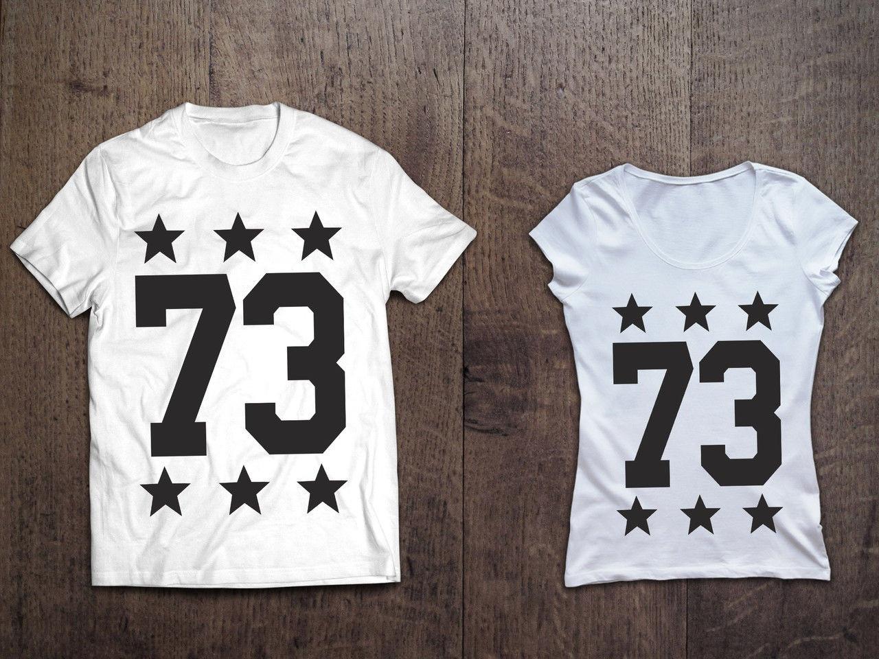 Парные именные футболки (черные и белые) со звездами