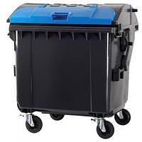Пластиковый мусорный контейнер 1100 л.