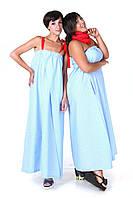 Сарафан-платье голубое без бретелей