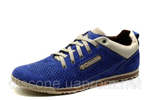 Туфли мужские Columbia, спортивные, синие, кожа