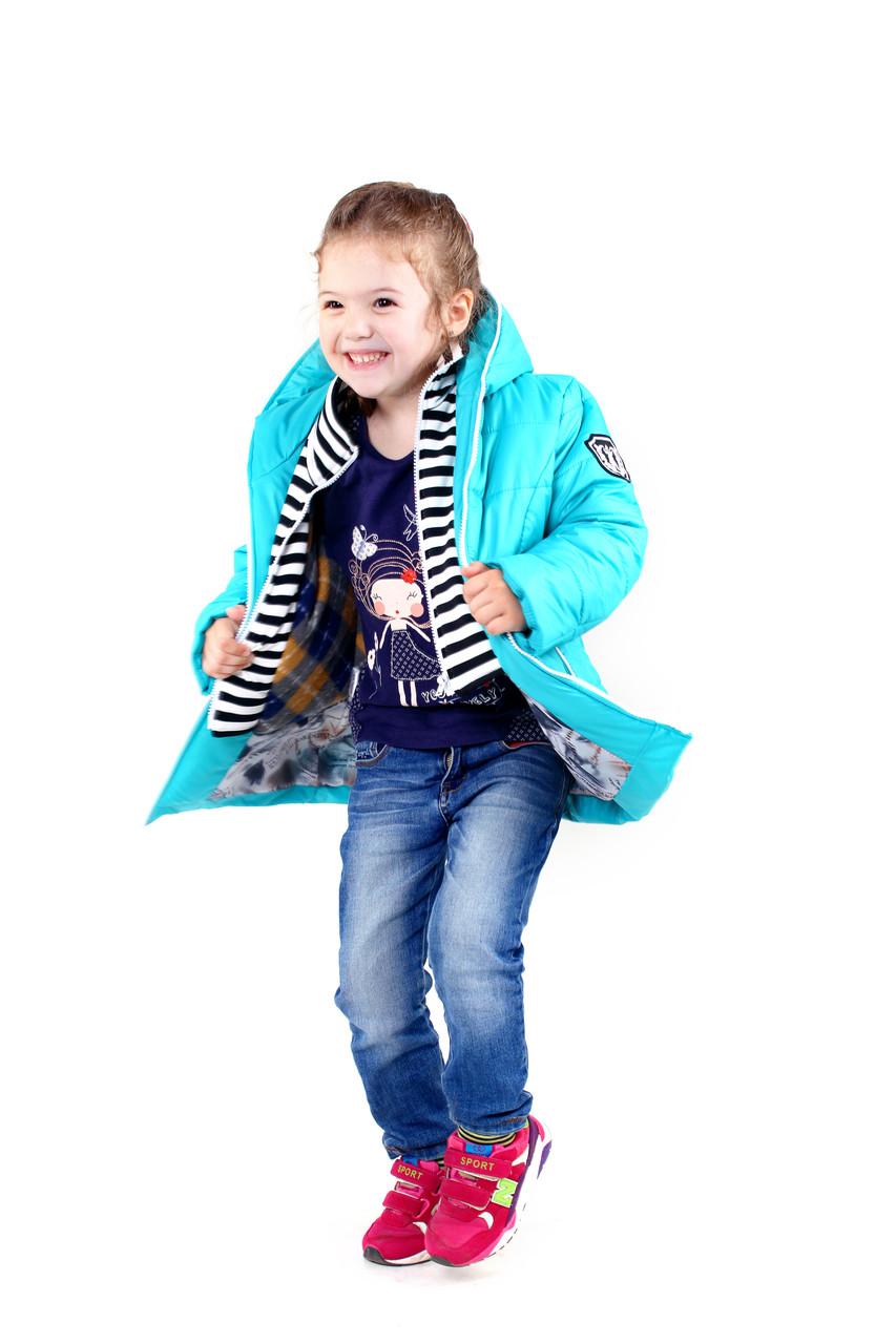 Детская курточка для девочки Ёлка