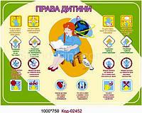 """Стенд """"Права ребенка"""" Код-02452"""