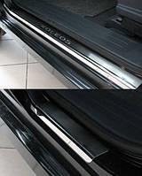Накладки на пороги  Renault Koleos 2008- 4шт. premium