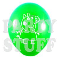 """Воздушный шар Ассорти пастель Свинка Пеппа 12"""" (30 см), 100 шт"""