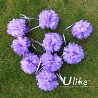 Гирлянда из 9 маленьких помпончиков в любом цвете