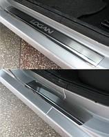 Накладки на пороги  Renault Logan I 2005- 4шт. premium