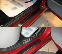 Накладки на пороги  Renault Logan II 2010- 4шт. premium