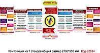Уголок по охране труда на предприятии Код-02834