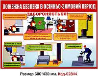 Уголок пожарной безопасности в осенне-зимний период Код-02844
