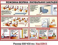 Куточок пожежної безпеки в лікарні Код-02843