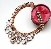 Ожерелье женское Фантом белое, крупная бижутерия
