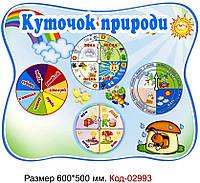 Стенд пластиковий календар природи в днз Код-02993