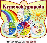 Стенд пластиковий календар природи в днз Код-02994