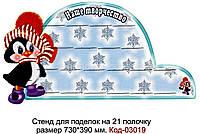 Стенд з поличками для виставки дитячої творчості  Код-03019
