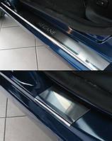 Накладки на пороги  Renault Megane III 4/5D 2009- 4шт. premium