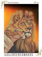 """Схема бисерная """"Львиный портрет"""", схемы для бисера"""
