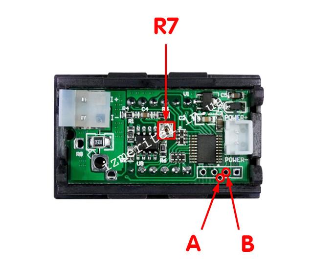 Цифровой амперметр 10А калибровка