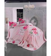 Двуспальный евро комплект с пледом (220×240)  в подарочном сундуке-чемодане Irina Home, Турция,  Mia
