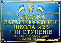 Вивіска лита об'ємна рельєфна (Зразок) Код-03682