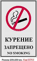 """Табличка """"Не палити"""" Код-03763"""